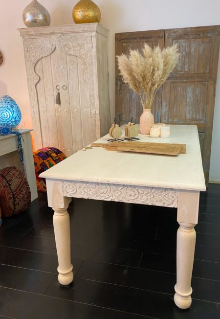 Oosterse eettafel   Whitewashed   Oosterse meubelen   Marokkaanse eettafel   Oosters meubel   Kalini meubel